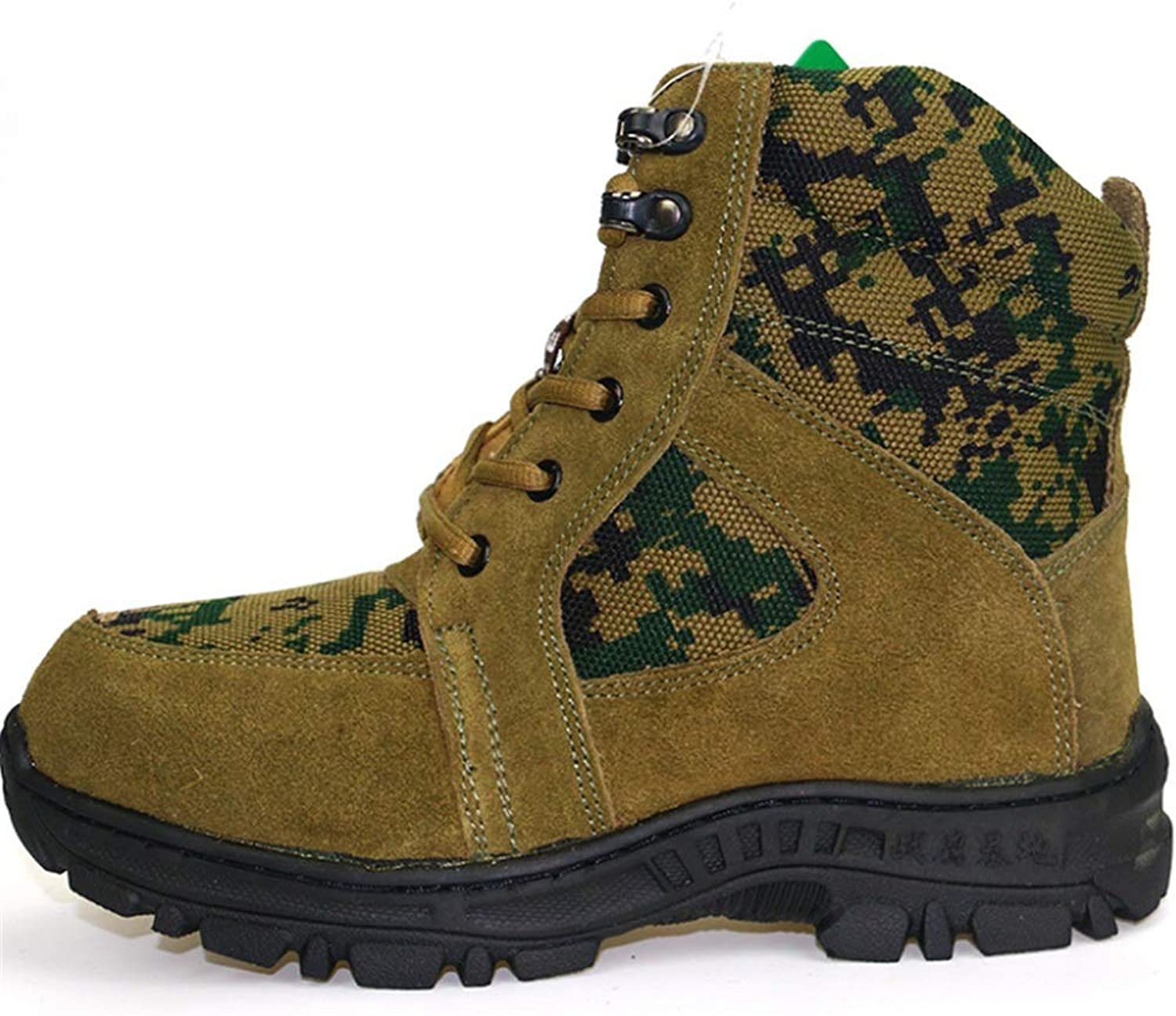 Womens Men Hiking Boots Walking shoes Trekking Winter Snow Boots Unisex Outdoor shoes (color   Green, Size   7.5 US)