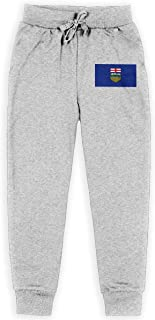 Dxqfb Alberta Flag, Flags of Alberta,Alberta Provincial Flags Boys Sweatpants,Sweatpants For Boys