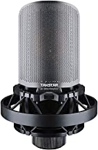 TAKSTAR Side-address Recording Microphone Wired Condenser Mic with Shockmount and Windscreen for Studio Broadcasting Stati...