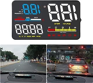 """Qianbao Head-Up Display Car HUD 5"""" Windshield Screen Projector with OBD II/EU OBD Interface Plug"""
