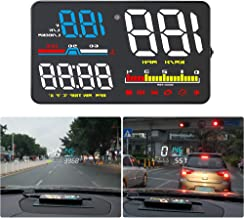 "Qianbao Head-Up Display Car HUD 5"" Windshield Screen Projector with OBD II/EU OBD Interface Plug"
