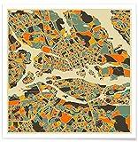 Juniqe® Stadtpläne Stockholm Poster 50x50cm - Design