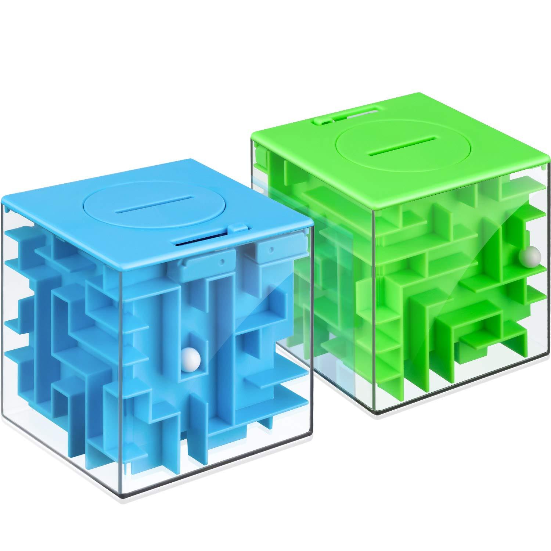 Money Maze Puzzle Box Orange Twister.CK Money Holder Puzzle Kids Adults Birthday