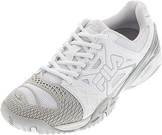Fila Women`s Cage Delirium Tennis Shoes White and Metallic Silver ()