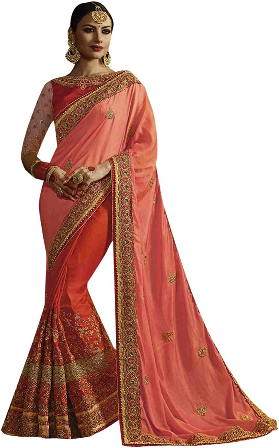 Indian Ethnic Shady saree with Blouse Designer Collection Women Stylish Party Wear 7283