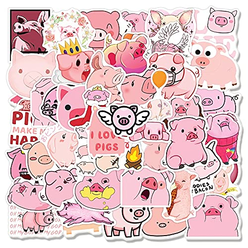 SHUYE Cute Cartoon Pink Pig Graffiti Stickers For Notebook Motorcycle Skateboard Computer Guitar Luggage Decal Sticker Toy50Pcs