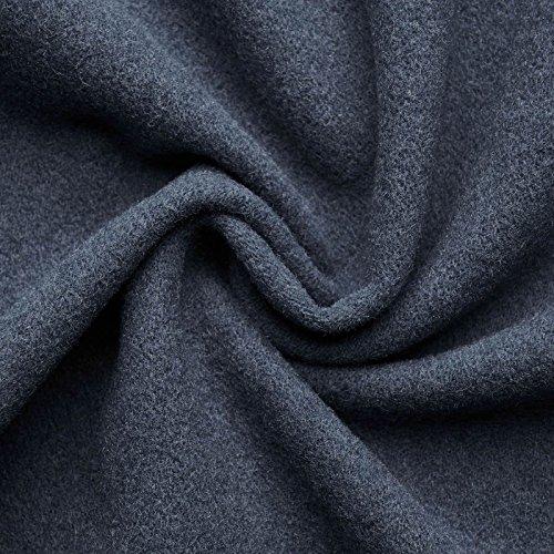 (16,99€/m) HANNAH - Wollstoff Stoffe Wolle Kaschmir Mantel Mittelalter Vorhang Decke Umhang Larp Meterware - 10 Farben (rauchblau)