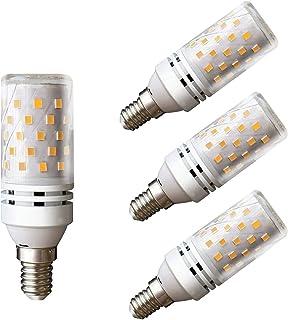 Lampaous LED E14 12 W Bombillas de maíz blanco cálido 3000 K Bombillas halógenas de 100 W Sustitución 360 grados ángulo de...