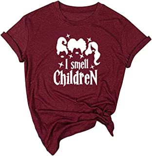 Pumsun I Smell Children Shirt Womens Halloween T-Shirt Casual O-Neck Funny Print Short Sleeve Tees Pullover Top