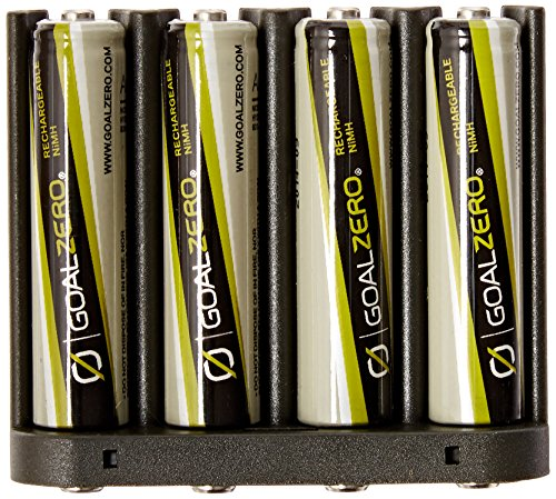 Goal Zero 11407 AAA NiMH Rechargeable Battery 4 Pack with AAA Insert for Guide 10 Plus