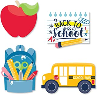 Big Dot of Happiness Back to School - DIY Shaped First Day of School Classroom Decoration Cut-Outs - 24 Count