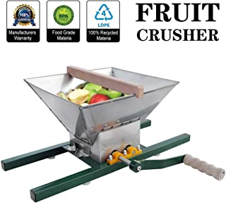 ECO-WORTHY 7 Litre Stainless Steel Apple Grinder Fruit Press Manual Juicer for Apple Juice apple crusher