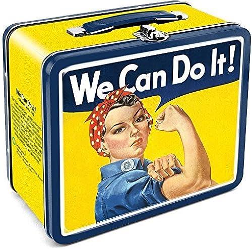 A la venta con descuento del 70%. Aquarius Smithsonian Rosie We Can Do It Tin Lunch Box Box Box by Aquarius  mejor precio