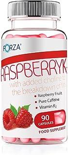 FORZA Raspberry K2 - Frambuesa K2 Quemadores de Grasa Naturales con Cetona de Frambuesa Aumento del Metabolismo - 90