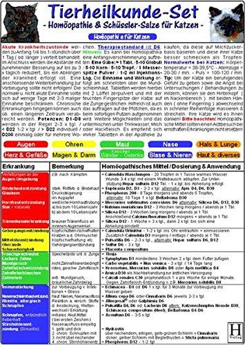 Homöopathie & Schüssler Salze für Katzen - Tierheilkunde-Karten Set: Homöopathie...