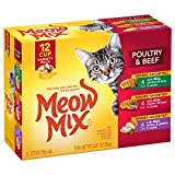 Meow Mix Tender Favorites Wet Cat Food, Poultry & Beef Variety Pack, 2.75 Ounce Cup (Pack of 48)