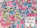 Rocks Bonbons Herz Mix, 1000gr (ca. 280 Stk.) - Bonbons mit Herz für eine süße Tischdeko zur Hochzeit, Taufe, Kommunion.