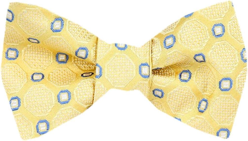 Men's Yellow Gold Silk Self Tie Bowtie Tie Yourself Bow Ties