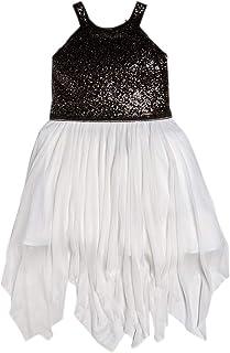 0cf87d548a6a4 Guess Robe Fille Marciano Paillettes Et Tulle Blanc Noir J92k43