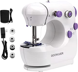 GOOWJUER Portable Mini Sewing Machine,Lightweight Electric Sewing Machines with Extension Table Double Thread Perfect for ...