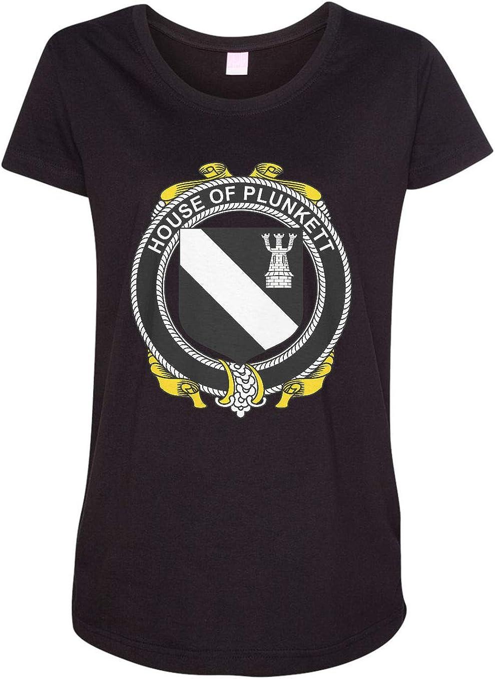 HARD EDGE DESIGN Women's Irish House Heraldry Plunkett T-Shirt