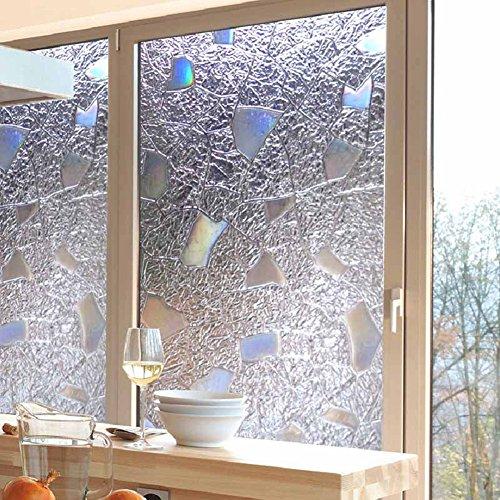 Brussels08 3D non adesivo calore controllo anti UV smerigliato finestra film vetro decorativo da finestra statica privacy vetro tinta film Home Decor, PVC, 1#, medium