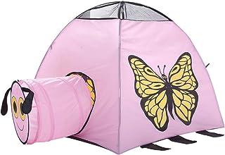 Heqianqian Baby tipi tält barn vikbara lektält fjäril tryckt leksak lekhus för barn pojkar och flickor inomhus utomhus lek...