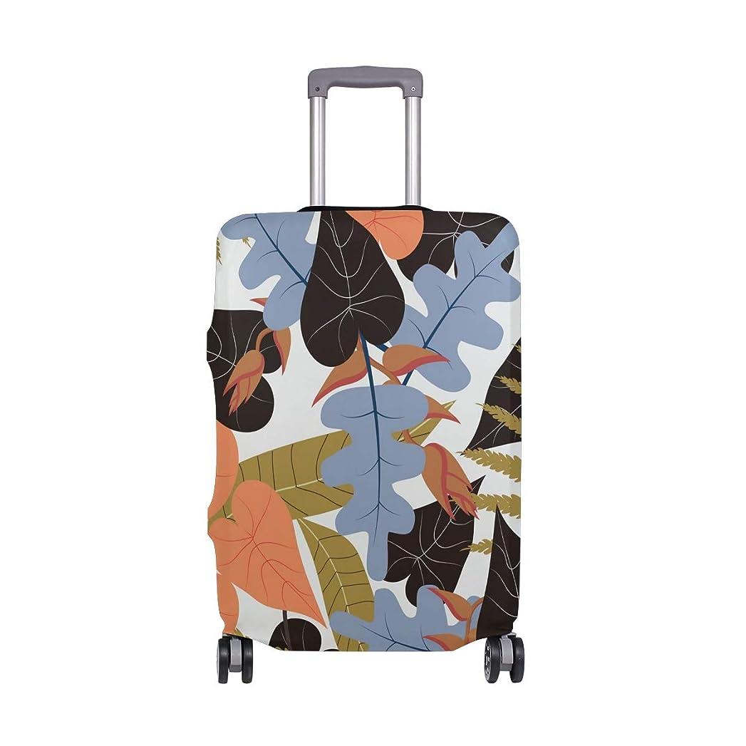 こしょう模倣職人SoreSore(ソレソレ)スーツケースカバー 防水 伸縮素材 キャリーカバー ラゲッジカバー 葉 ハワイ かわいい 可愛い 可愛い おしゃれ 防塵 旅行 出張 便利 S M L XLサイズ