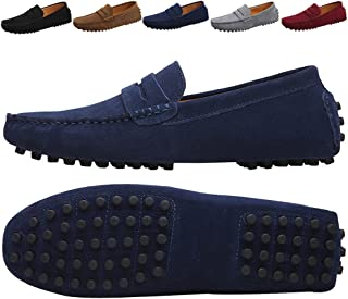 7dbc055004b JIONS Mens Driving Penny Loafers Suede Moccasins Slip On Casual Dress Boat  Shoes