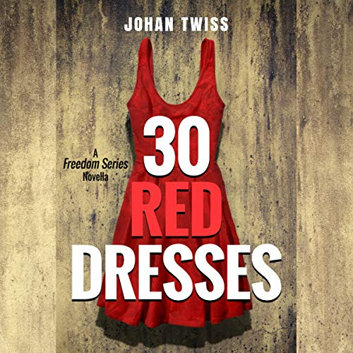 30 Red Dresses audiobook cover art