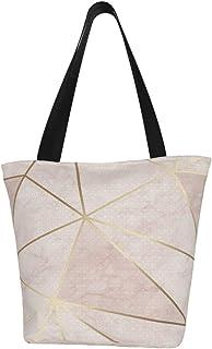 Lesif Zara Einkaufstaschen, schimmernde Metallic-Tapete, weich, rosa, goldfarben, Segeltuch, Einkaufstasche, wiederverwendbar, faltbar, Reisetasche, groß und langlebig, robuste Einkaufstaschen
