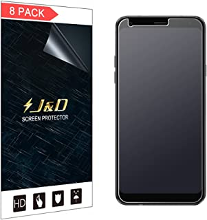 J&D Compatible for 8-Pack LG Q7 Screen Protector, LG Q7 Plus/LG Q7 Alpha Screen Protector, [Anti-Glare] [Not Full Coverage] Matte Film Shield Screen Protector for LG Q7 Plus Matte Screen Protector