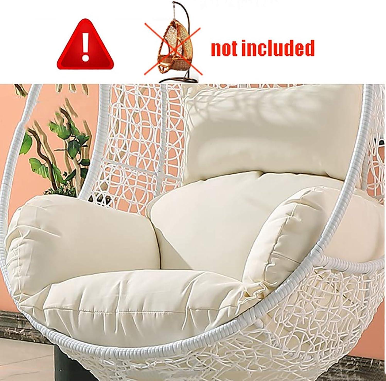 ZOUDIN Hngende Ei hngematte Stuhl Kissen ohne Stehen,Kissen für schaukel Sitz Dicke Nest hngen Stuhl Wieder mit Kissen-A