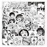 52Pcs Lust Face Hentai Waifu Sexy Anime Stickers Water Bottles Laptop Car Hydroflasks Phone Guitar Skateboard Kawaii Hot Lady Loli Vinyl Sticker Waterproof Aesthetic Decals for Teens Boys Adults