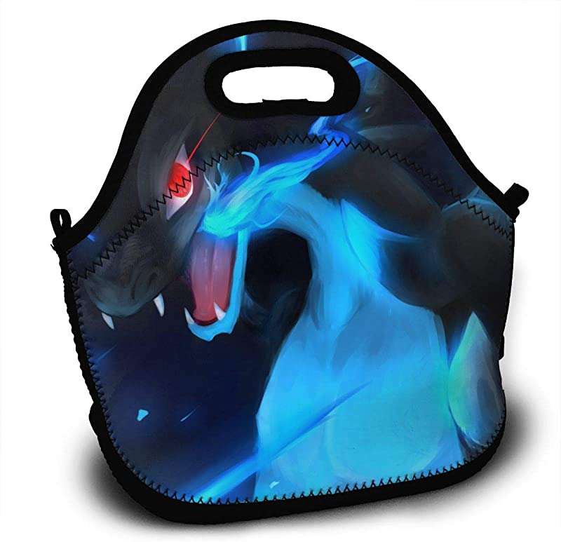 Charizard Pi Ka Chu Lunch Bag For Women Men And Kids Reusable Lunch Tote For Work And School