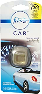 Febreze Car Vent Clip Air Freshener, New Car 1 ea ( Pack of 8)