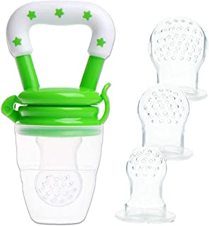 Chupete Fruta Bebe y Mordedores con pacifiers de 3 tama/ños diferentes Eccomum Alimentador Antiahogo Bebe sin BPA 2 piezas