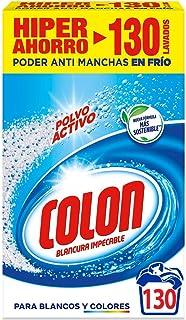 comprar comparacion Colon Polvo Activo - Detergente para lavadora, adecuado para ropa blanca y de color, formato polvo - 130 dosis