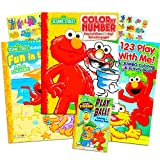 Sesame Street Coloring Book Super Set ~ Bundle Includes 3 Jumbo Books - 335+ Pages Total Featuring Elmo, Cookie Monster, Big Bird and More!