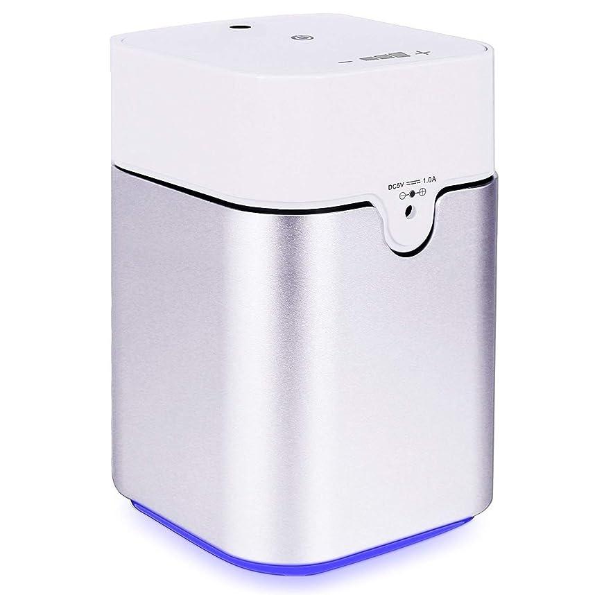 スパイラル信じられない割り当てますENERG e's Pure アロマディフューザー ヨガ室 整体院人気 タイマー機能 ネブライザー式 量調整可能 精油瓶3個付き T11-ENS082