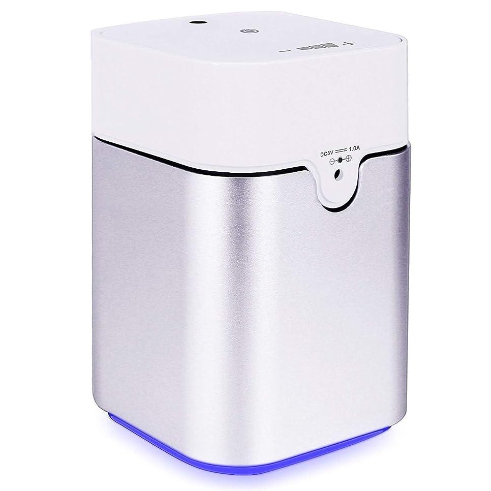 邪魔する靄見えるENERG e's Pure アロマディフューザー ヨガ室 整体院人気 タイマー機能 ネブライザー式 量調整可能 精油瓶3個付き T11-ENS082