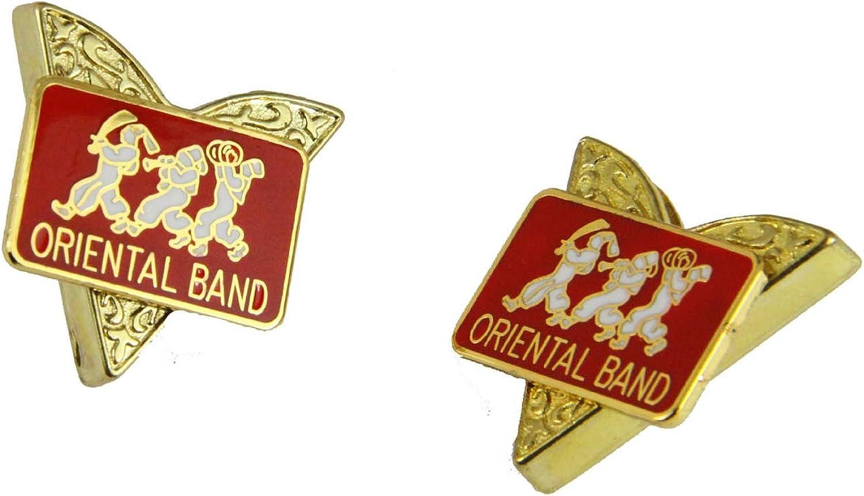 4031829 Oriental Band Collar Tips Shrine Shriner ASOB Association of Oriental Band