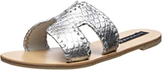 Women's Greece-M Sandal, Silver/Multi, 7.5 M US