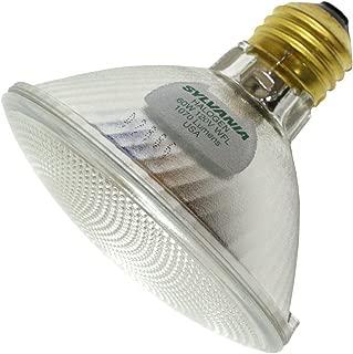 Sylvania Item 16129, Tungsten Halogen PAR30 Silver Reflector Lamp 60Watt 120Volt Medium Base WideFlood50 Beam