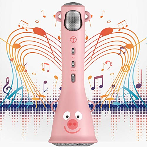 TOSING Karaoke Microphone for Kids,Birthday Gifts and Kids Toys for Age 4 5 6 7 8 9 10 11 Years Old Girls,Portable Handheld Wireless Bluetooth Karaoke Mic Machine for Home,Party