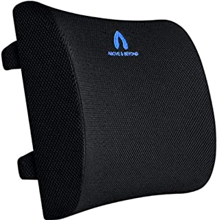 Back Support Pillow - Memory Foam Back Cushion for Back Pain Relief - Ideal Lumbar Support Pillow for Office Chair, Car Se...