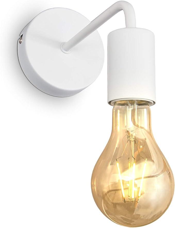 129 opinioni per B.K.Licht Lampada da parete retrò, lampadina E27 non inclusa, applique vintage,