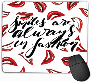 SHENGXING Gaming Mouse Pad Custom, Personalized Desings Gaming Mouse Pad 25x30CM Smiles Fashion Quote Hand Lettering Your Design Bags Posters
