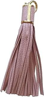 Michael Kors Large Tassel Bag Charm Pink Leather Key Fob Chain