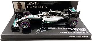Minichamps 410160744 1:43 Mercedes AMG F1 W07 Hybrid-Lewis Hamilton-Winner Abu Dhabi Gp 2016